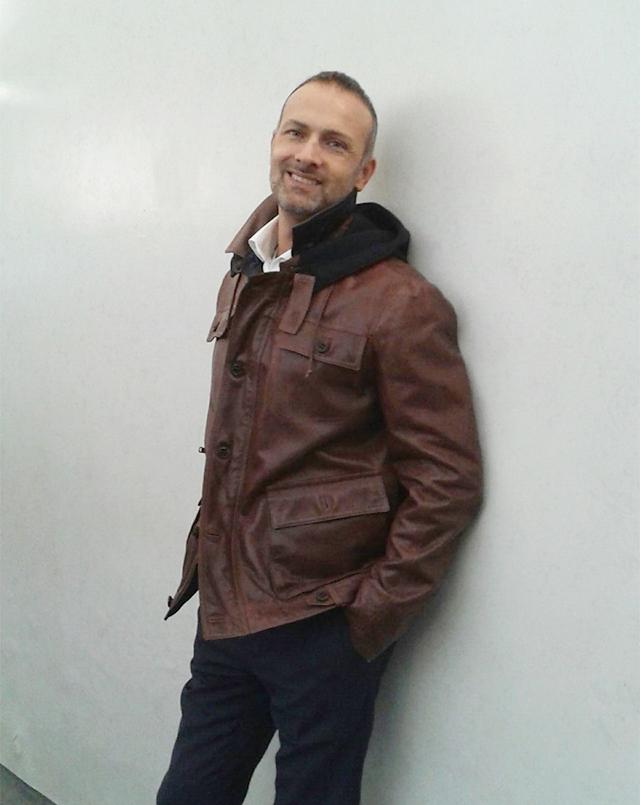 Giacca in pelle nappa color cuoio - Compel Brescia