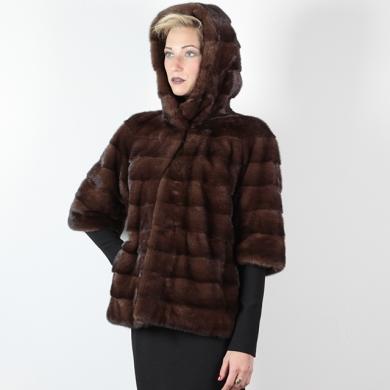 Giacca di visone con cappuccio - Compel Brescia