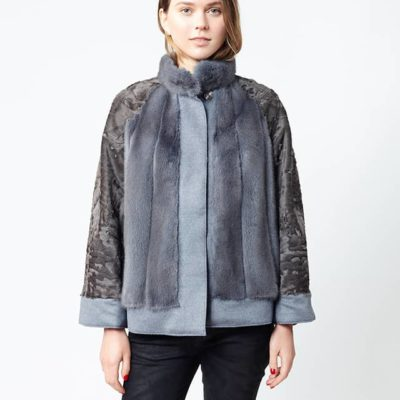 giacca in visone e persiano