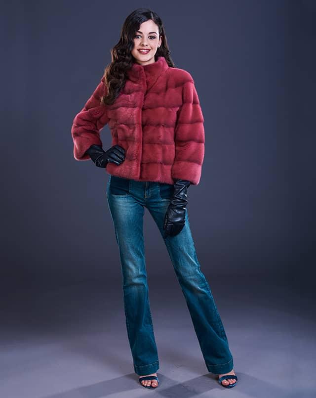 giacchino visone rosso - compel